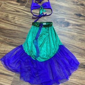Imagination creations Inc. mermaid top & skirt M